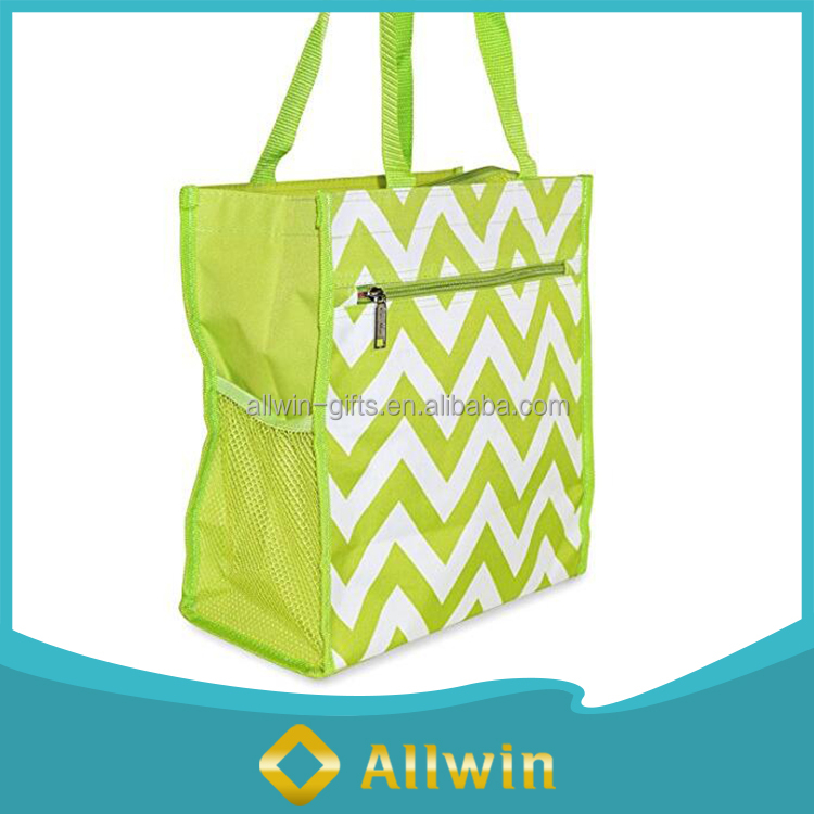 Outside Travel Chevron Canvas Tote Promotional Shopping Bag