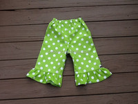 2015 fancy design 100% cotton baby pants with ruffles newborn girls casual tight leggings wholesale baby clothing