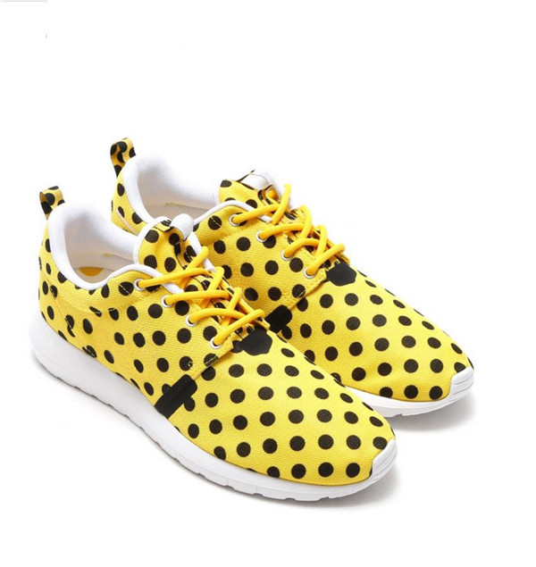 Hot sale casual colorful polk dot sport running shoes sneakers footwear for women
