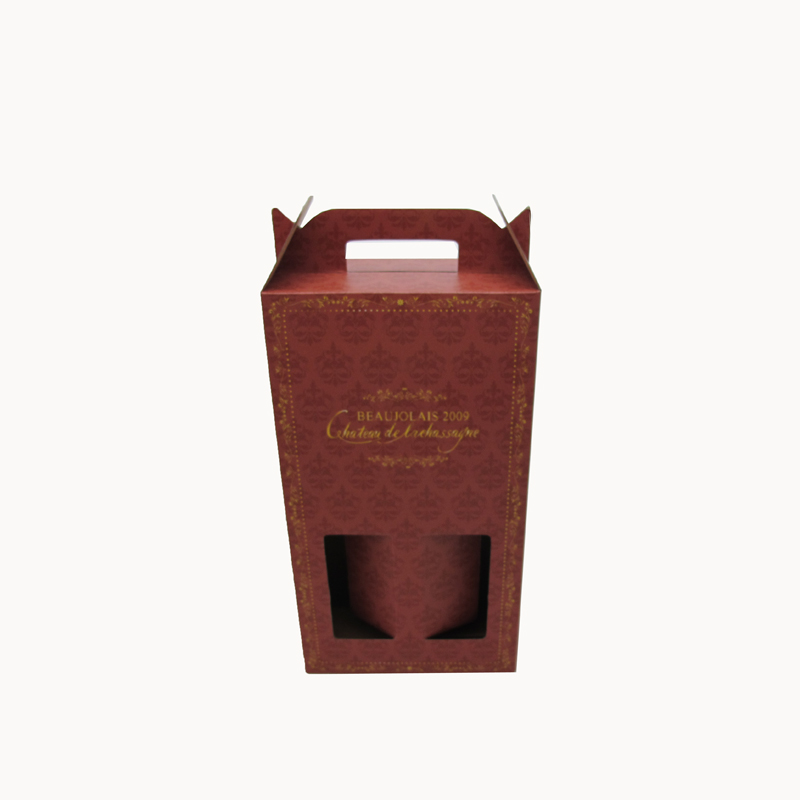Rigid enough corrugated cardboard 2 packing wine box, 2 beer bottle