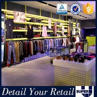retail pallet displays stand,garment display shelf for clothing sales