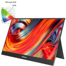 computer monitor gaming 15.6 inch type-c 3840x2160 4k monitor with 12v dc input 100% <strong>RGB</strong> color 5mm ultra slim