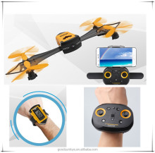 CX-70 Professional Wifi FPV RC Foldable Drone with Wearable Wrist Watch