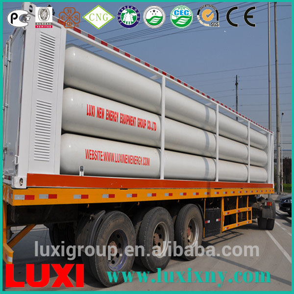 LUXI CNG 11 Tube Skid Trailer, Transporting more than 8000 m^3 per Unit
