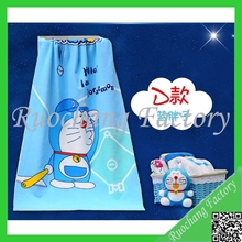 Doraemon image printed bath towel baby and adult cartoon bath towel