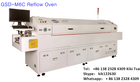 GSD-M6C reflow soldering oven for pcb, led ,smt, smd soldering , 6 up/ down heating zones with hot air/ infrared heating machine