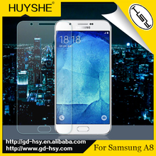HUYSHE 2.5D 9H hardness tempered glass screen protector for Samsung A8