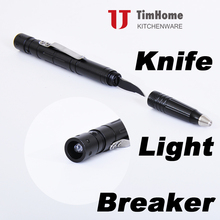 multifunctional pen tactical pen with light and knife and glass breaker