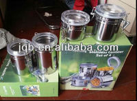 wholesale good stainless steel airtight canister set for homeware and kitchen set