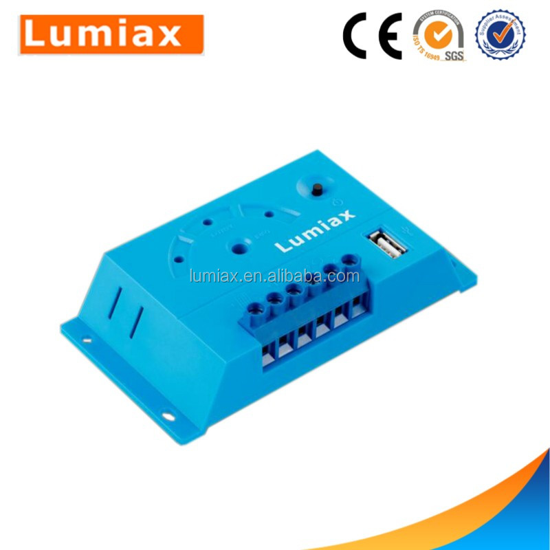 Lumiax 12v pwm solar charge controller 10a USB controller