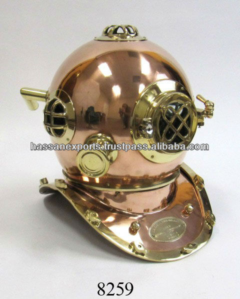 Nautical Divers Diving Helmet, Copper Diving Helmet