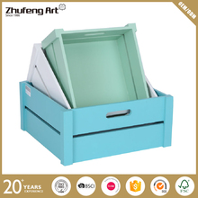 Cheap Customized Colorful Wooden Crate Box for Vegetable Fruit Storage