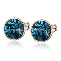 2013 High Quality Best Selling Green Stone Earring Imitations Jewelry Brand