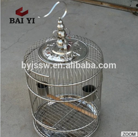 Strong Stainless Steel / Plastic Round Pet Bird Cage For Sale (Made In China)