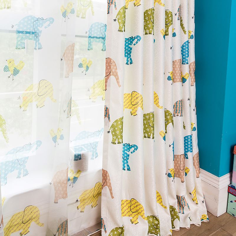 2016 new design printed voile curtain fabric curtain drapery