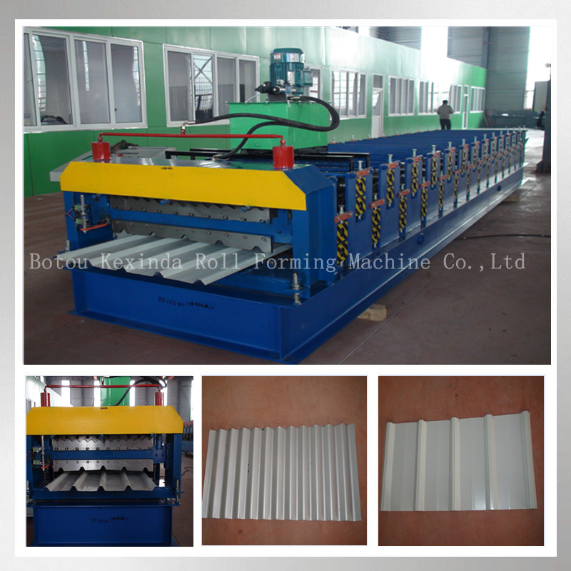 color steel single skin profile roofing sheets roll forming machine for building material