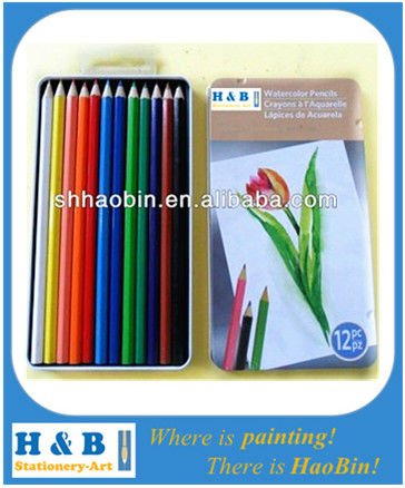 12 mini basswood colored pencils