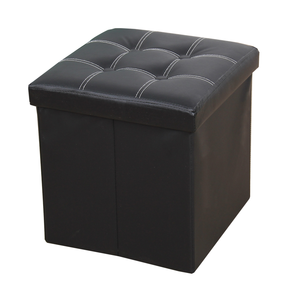 New style square folding foot stool leather foot rest ottoman
