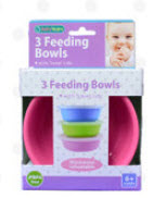 3 Feeding Bowls With Snap On Lids High