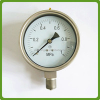 China manufacture Industrial Stainless Steel Bourbon tube Pressure Gauge