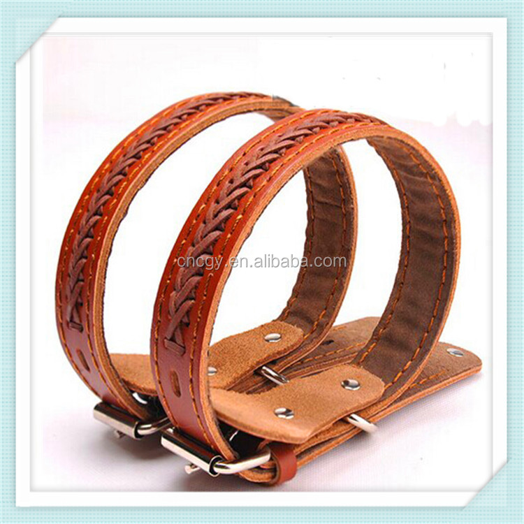 Classic high quality pet product genuine leather dog collar