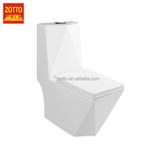 Direct selling square p-trap/s-trap washdown water closets toilets modern one piece ceramic toilet in cheap price