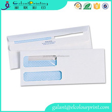 Western style exquisite double window business envelopes with two side printing