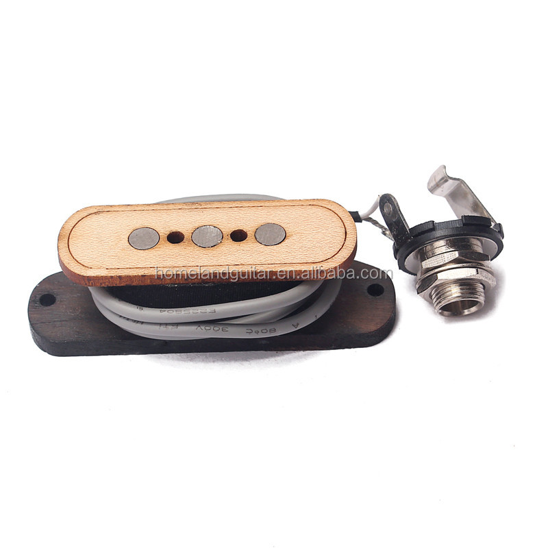 3-pole Pre-wired 3 String Bass Pickup&Input Jack for Cigar Box Guitar
