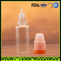 50ml liquid nicotine/ transparent PET smoke oil bottle with labels and packing