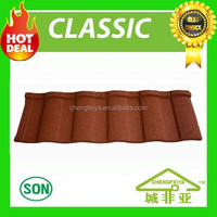 china factory spanish colored stone coated metal roof tile