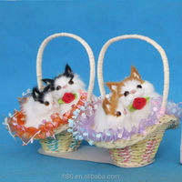 most popular hot sale best selling products synthetic fur furry cat in basket