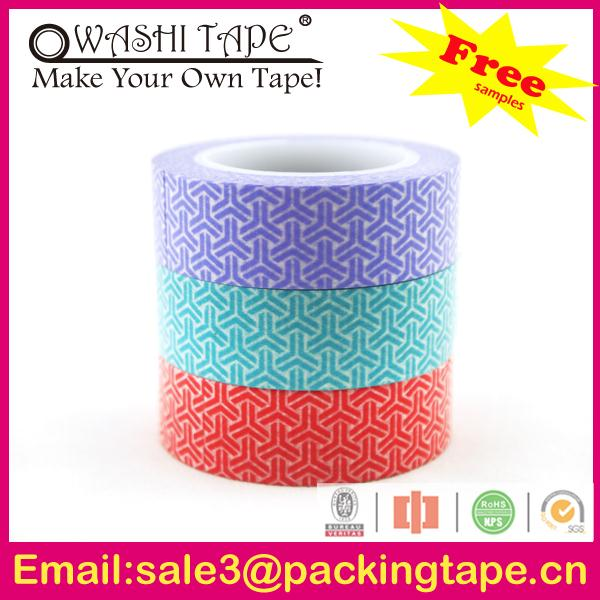 Hot sale japanese diy custom masking tape,colorful rice paper printed washi tape