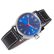 Hot design alloy leather 3 atm waterproof mens watch most popular products