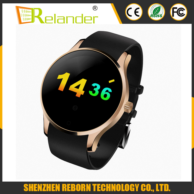 Round Metal Smartwatch K88S smart watch with SIM card Heart Rate Monitor