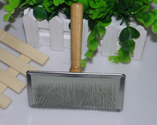dog bathing brush pet wooden handle comb