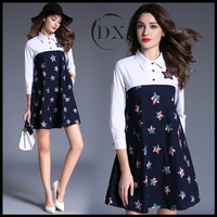 2017 Fashion Classic style cotton printing leisure dress