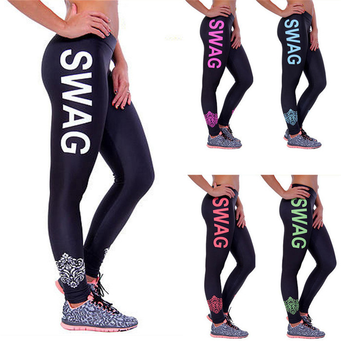 Quick Dry Women Leggings Wholesale Sports Pants Custom Printed Yoga Gym Pants