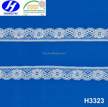 Eco-friendly non-stretch knitted nylon lace trim for lady dress