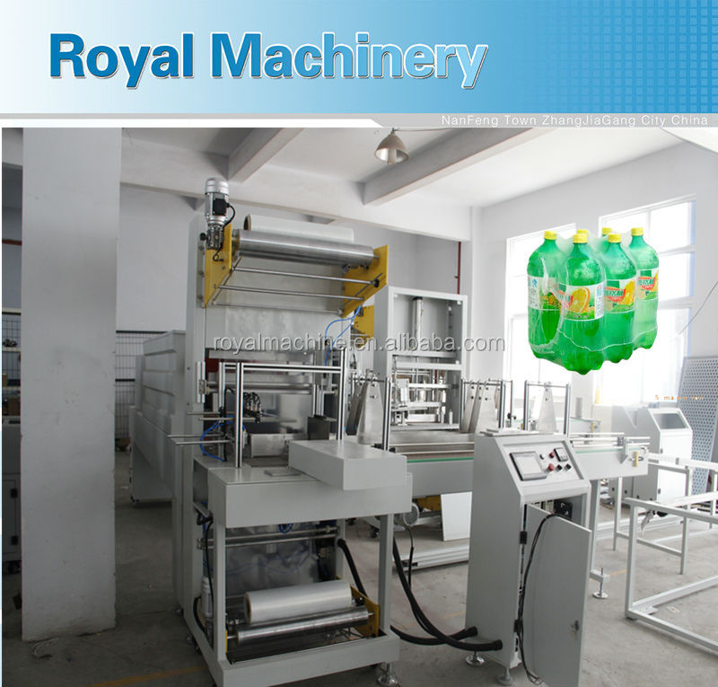 fully auto shrink film warping packing machine in Zhangjiagang