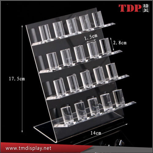 Wholesale Clear 4 Tiers Acrylic Display Stand Holder Organizer Rack for Jewellery Rings