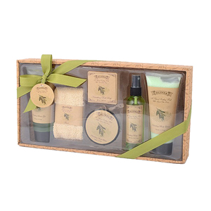 2018 Latest bath soap natural body lotion vanilla spa bath gift set