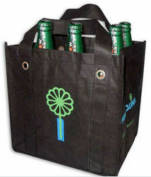 promotional custom printed 6 bottle wine cardboard bottle carrier