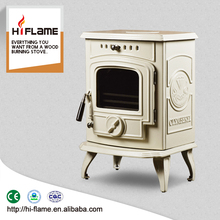 HiFlame Cheap cast iron wood burning heater with enamel surface on sale HF332E Ivory