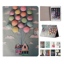 Wholesale Factory Price Cut Drawing Printing PU Leather Case for Ipad Min with Colorful Balloon