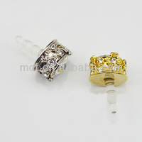Funny decorated king crown cell phone anti dust plug/wholesale cell phone dust plugs MCD-0055