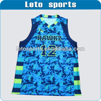 2014 Top quality custom sublimation mesh basketball uniforms