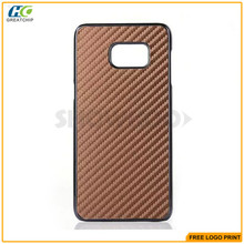 Classic fashion design hard plastic cover For samsung galaxy s6 edge plus Carbon fiber case Factory Wholesale From China