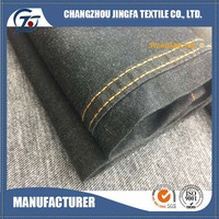 Low price of denim fabric 98% cotton 2% spandex tejido textile