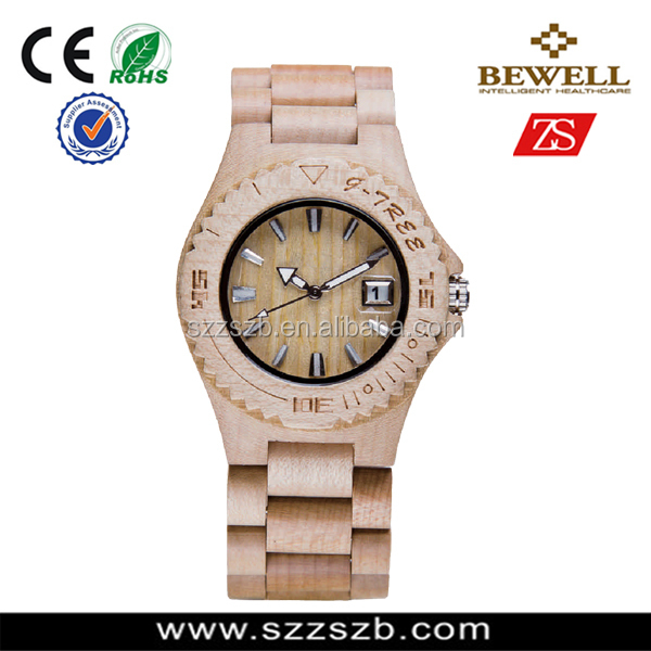 2016 Newest 100% Natural Sandalwood Watch with Bamboo Case and CURVE band,factory price