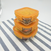 Airtight Waterproof pyrex glass food storage containers with lids non plastic for promotion